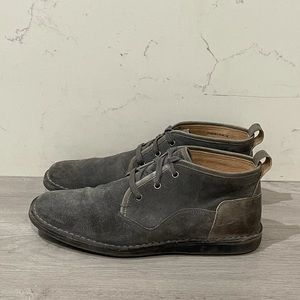 John Varvatos Star USA Suede Derby Shoes Grey